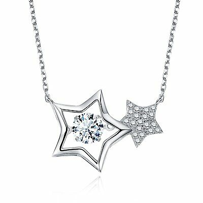 STAR SANDS Infinite Stars Dancing Diamond Womens Pendant Necklace Made with 6MM