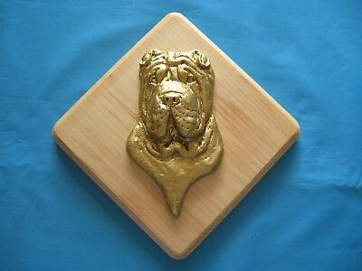 Chinese SharPei 3D Head Study Square Wall Plaque by Dannyquest