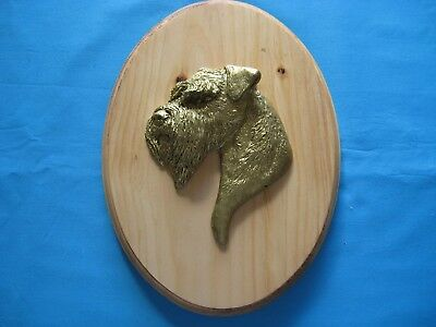 Sealyham Terrier 3D Head Study Oval Wall Plaque by Dannyquest