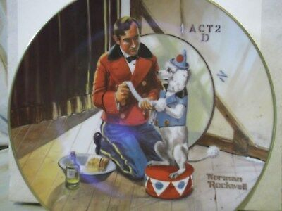 While the Audience Waits Norman Rockwell Museum 1981 collector plate