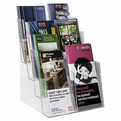Clear-Ad - LHF-S84 - Plastic Rack Card Literature Display Holder - Acrylic 4 8 -