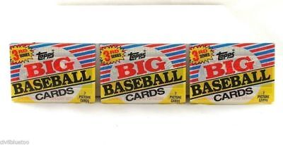 Lot of 3 Wax Packs 1988 Topps Big Baseball Cards 3rd Series Factory Sealed