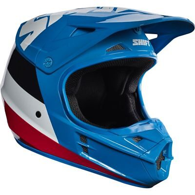 Shift WHIT3 label Tarmac Blue Helmet Adult Motorcycle MX ATV ECE DOT 17231-002