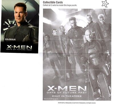 Marvel Comics: X-Man: Days of Future Past Carl's Jr. 2014 Trading Card Colossus
