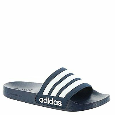 detailed look 39a55 83d17 Adidas CF Adilette Slides Sandal Slippers AQ1703 Navy White Free Shipping