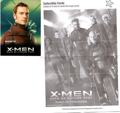 Marvel Comics: X-Man: Days of Future Past Carl's Jr. 2014 Trading Card Magneto