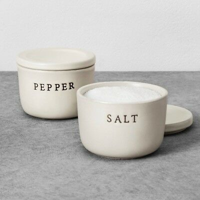 *NEW* Hearth and Hand with Magnolia Salt & Pepper Stoneware Cellar!!