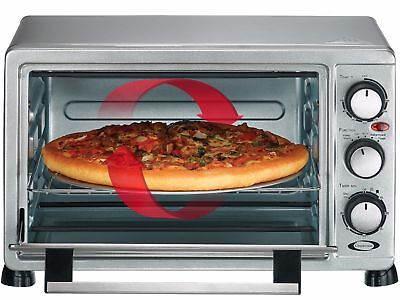 "Convection Toaster Oven Large 6-Slice 12"" Pizza Capacity Stainless Steel, Silver"