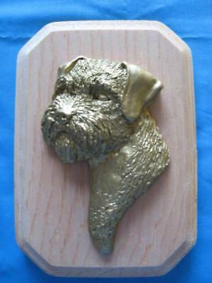 Border Terrier 3D Head Study Rectangular Wall Plaque by Dannyquest