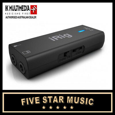 IK MULTIMEDIA iRig HD2 GUITAR INTERFACE FOR IOS, PC, MAC HD 2 IRIGHD -