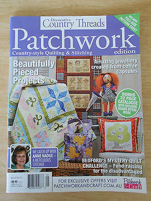 Decorative Country Threads Vol 15 #11~Quilts~Doll~Bag~Raggedies Embroidery~