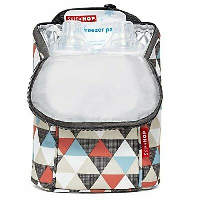 Skip Hop Grab-and-Go Insulated Double Bottle Bag, Triangles NWOT
