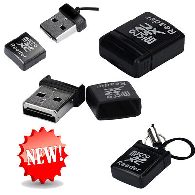 MINI Super Speed USB2.0 Micro SD/SDXC TF Card Reader Adapter Black For  Laptop