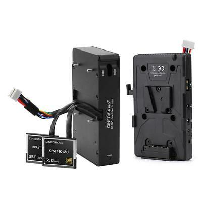 CINEDISKPRO DP-100 CFast 2.0 To SSD Adapter W/ LanParte V-Mount Battery Back Pin