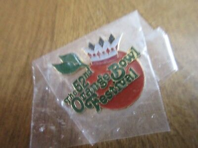 Vintage 1 inch UNIVERSITY 52nd ORANGE BOWL festival pin  NCAA