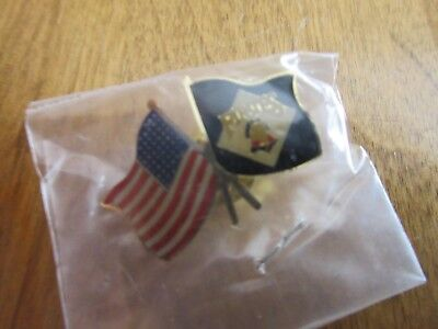Vintage 1 inch AMERICAN PITTSBURGH PIRATES flags pin MLB baseball