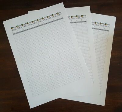 30 Geocaching Logs 3 Sheets Printed On Rite-in-the-Rain (RITR) All-Weather paper