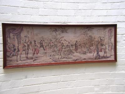 SUPERB ANTIQUE FRENCH TAPESTRY IN  LONG OAK FRAME 19Th CENTURY
