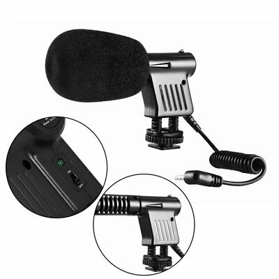 BOYA BY-VM01 3.5mm Video Condenser Microphone for Canon Camera Camcorder GT