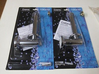 "2 X CAROMA ""COSMO"" Toilet Roll Holders in Chrome  FREE POST"