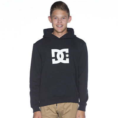DC Shoes Boys Star Pop Hooded Sweatshirt in Black