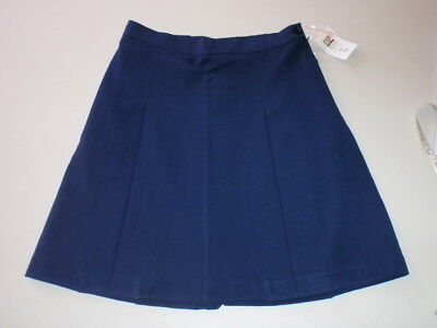 BULK x 3 BNWT GIRLS SIZE 10  SCHOOL WEAR SKIRT - NAVY - WAIST 64cm DZ