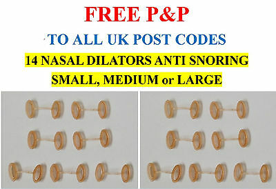 14 NASAL DILATORS ANTI SNORING BREATHE EASIER Choose SMALL, MEDIUM or LARGE