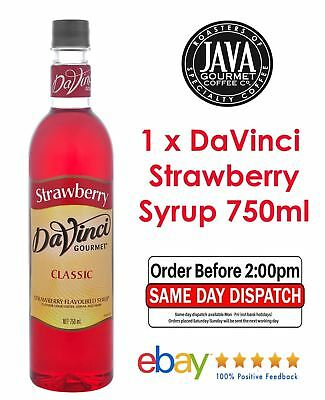DaVinci Classic Strawberry Syrup 750ML