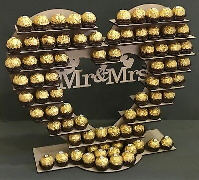 Y241 XL Love Heart Ferrero Rocher Chocolate Wedding Sweet Candy Cart Stand Tree