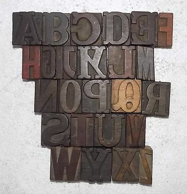 """""""A to Z"""" Letterpress Letter Wood Type Printers Block collection.vb-535"""