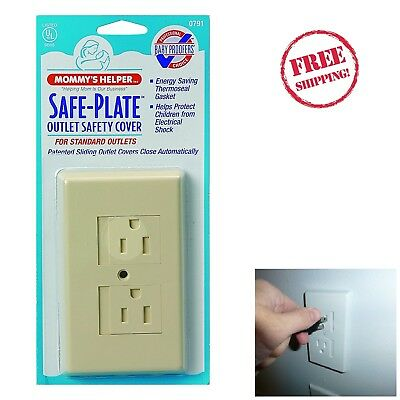 Standard Safety Electric Outlet Self-Closing Protector Cover Baby Proof Guard