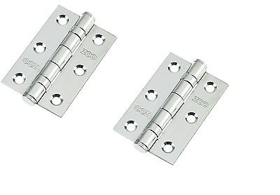15 PAIRS 30Nr Satin Stainless 75x50x2mm Butt Hinges