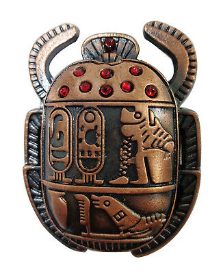 "Handmade 1.8"" Scarab Statue Egypatian Pharaoh Paperweight Fridge Magnet 206"