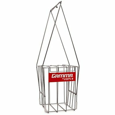 GAMMA Tennis Ball Hopper Hi-Rise 75 Silver Holder W/ Capacity Easy Pick Up- Lid