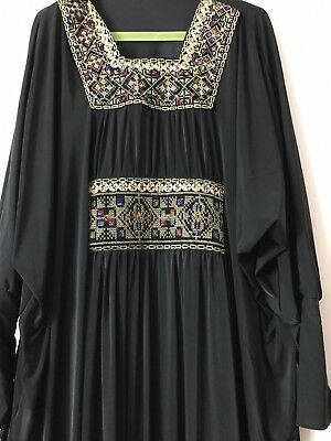 Women Kaftan Abaya Islamic Muslim Long Sleeve Jilbab Maxi Dress Isdal large