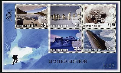 Ross Gebiet 2005 Landschaften Wal Pinguine Antarktis Limited Edition Block 1 MNH