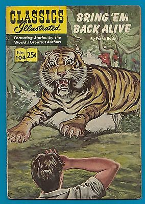 Classics Illustrated Comic Book 1969 Bring em back alive by Frank Buck #104 #813
