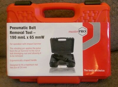 5 x MASTER PRO Pneumatic Bolt Removal Tool-190 mm x 65 mm BRAND NEW & SEALED