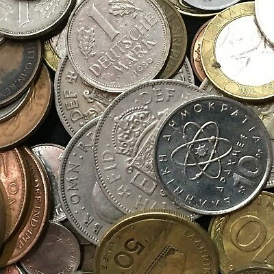 Mixed Foreign Coin Lot - 2 Pound Bag - Circulated and Uncirculated