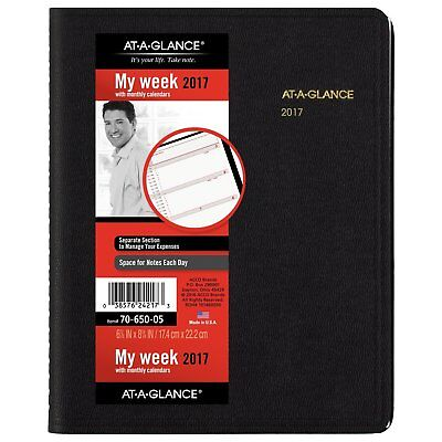 """AT-A-GLANCE Weekly / Monthly Appointment Book / Planner 2017, 6-7/8 x 8-3/4"""","""