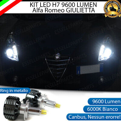 Kit Full Led H7 Canbus Alfa Romeo Giulietta 6000K Bianco 9600 Lumen 80W No Error
