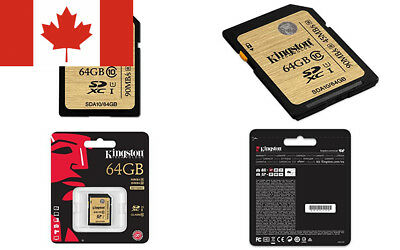 Kingston Digital 64GB SDXC Class 10 UHS-I Ultimate Flash Card (SDA10/64GB)