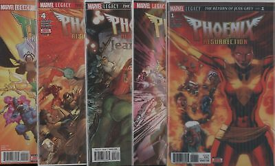 Phoenix Resurrection Return Jean Grey #1 2 3 4 5 1-5 1St Print Set