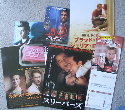 Brad Pitt Japan ad chirashi flyers and promo cards (Fight Club, Seven)