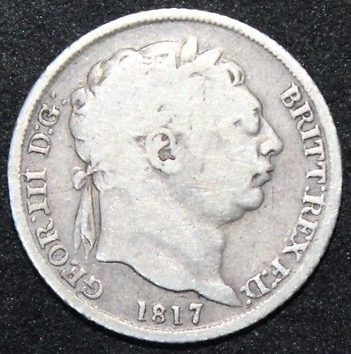 1817 | George III Sixpence | Silver | Coins | KM Coins