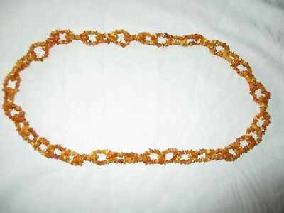Antique Amber Necklace, 100% Genuine, 32 Inch Long.