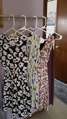 Lot of 4 Woman Summer Casual Dress Sleeveless Size : S/M