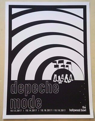 DEPECHE MODE Limited Edition 2017 Hollywood Bowl SCREEN PRINTED Poster KROQ NEW
