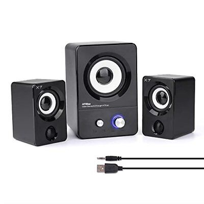 USB Computer Speakers Multimedia Stereo Subwoofer Bass for Laptop PC Music Sound