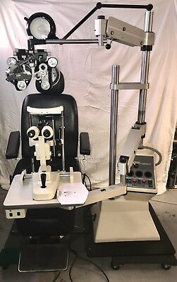 Topcon Ophthalmic Exam Lane chair & stand package w/ slit lamp and phoropter